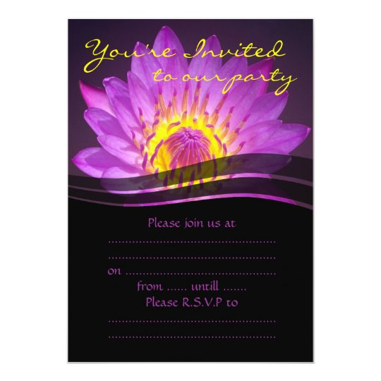 Elegant Purple Lotus Flower Card