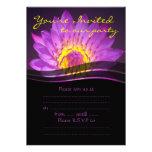 Elegant Purple Lotus Flower Invitation