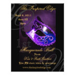 Elegant Purple Masquerade Ball Party Event Flyer