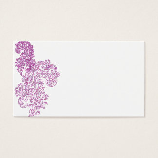 Elegant purple middle eastern motif invite