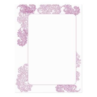 Elegant purple middle eastern motif invite post cards