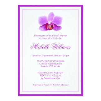 Elegant Purple Orchid Bridal Shower Card