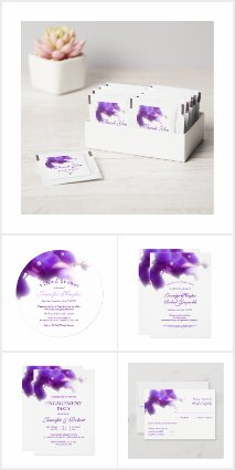Elegant Purple Orchid Wedding Collection