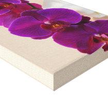 Elegant Purple Orchid Wrapped Canvas