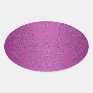 Elegant Purple Oval Sticker