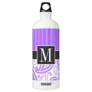 Elegant Purple Paisley SIGG Traveler 1.0L Water Bottle