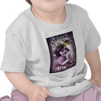 elegant purple paris Vintage flapper Lady T Shirt