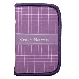 Elegant Purple Pattern Sleeves Folio Planner