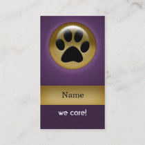 Pet Care Business Cards Visiting Cards Mgdezigns
