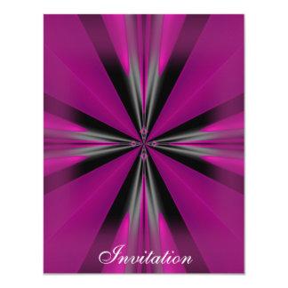 Elegant Purple Pink Black Shapes  Silver White Card
