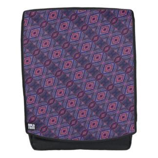 Elegant Purple Pink Diamond Pattern Backpack