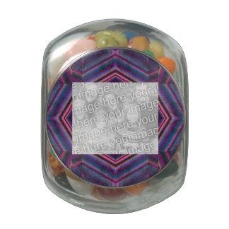 Elegant purple pink diamond pattern jelly belly candy jar