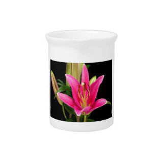 Elegant Purple Pink Flower Floral Gifts Template Drink Pitcher