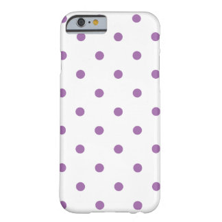 elegant purple polka dots barely there iPhone 6 case