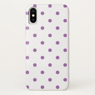 elegant purple polka dots iPhone XS case
