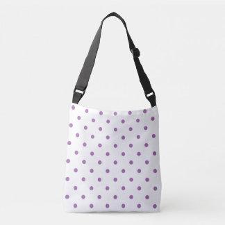 elegant purple polka dots crossbody bag