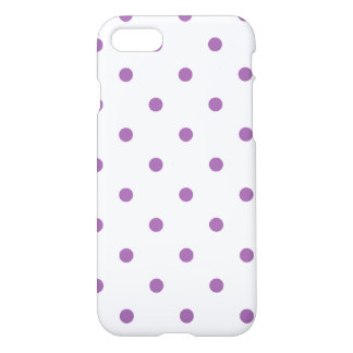 elegant purple polka dots iPhone 8/7 case