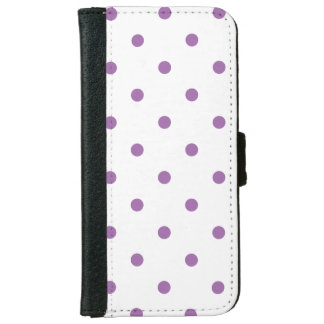 elegant purple polka dots wallet phone case for iPhone 6/6s