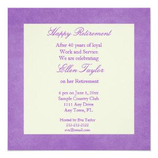 elegant Purple Retirement Party Invitation