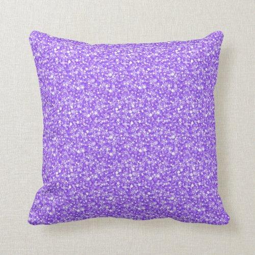 Elegant Purple Retro Glitter & Sparkles Pillows