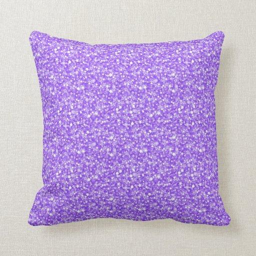 Elegant Purple Retro Glitter & Sparkles Throw Pillow Zazzle
