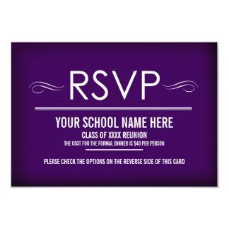 Elegant Purple Reunion RSVP Cards
