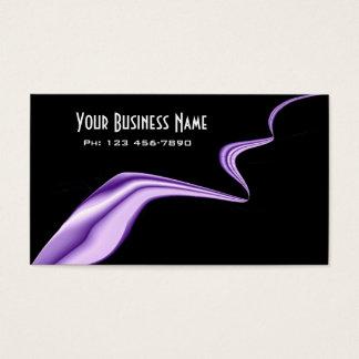 Elegant Purple Ribbon Business Card