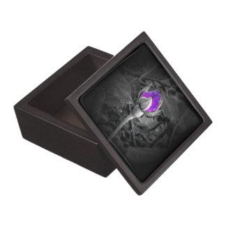 Elegant Purple Rosebud Color Splash Jewelry Box