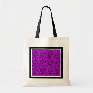 Elegant purple roses beach bags - customizable