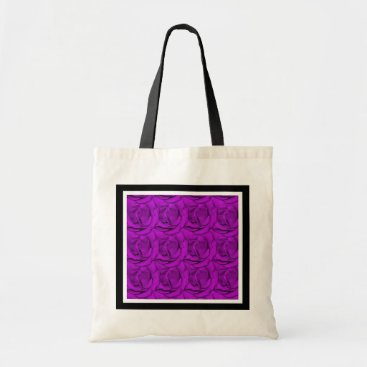 Beach Themed Elegant purple roses beach bags - customizable