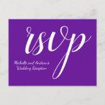 """[ Thumbnail: Elegant Purple """"RSVP"""" Postcard ]"""