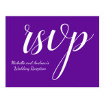 "[ Thumbnail: Elegant Purple ""RSVP"" Postcard ]"