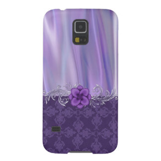Elegant Purple Satin and Damask Samsung Galaxy S5 Galaxy S5 Cover