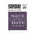 Elegant Purple Save the Date Postage