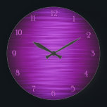 """Elegant purple shaded wall clock<br><div class=""""desc"""">Elegant purple shaded gradient digital art wall clock design great for decorate your living room ,  bedroom,  kitchen or office wall</div>"""