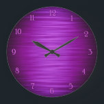 "Elegant purple shaded wall clock<br><div class=""desc"">Elegant purple shaded gradient digital art wall clock design great for decorate your living room ,  bedroom,  kitchen or office wall</div>"