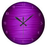 Elegant purple shaded wall clock