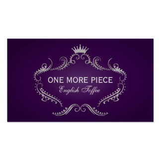 Elegant Purple & Silver Crown Frame Business Card