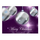 Elegant Purple Sparkle Christmas Post Card