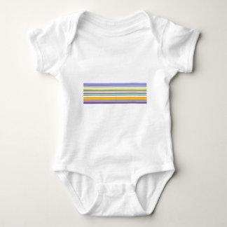 Elegant Purple Stripe Pattern Baby Bodysuit