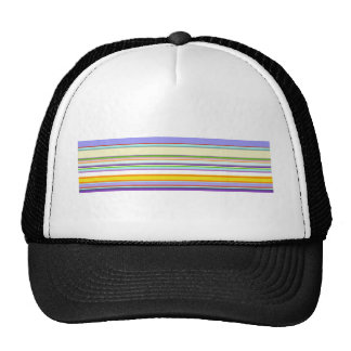 Elegant Purple Stripe Pattern Trucker Hat