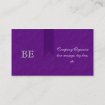 Elegant Purple Support Ribbon Business Cards