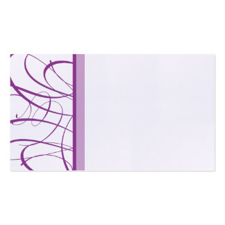 Elegant Purple Table Seating Place Card Business Cards