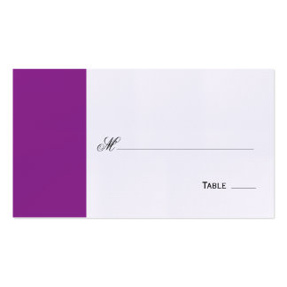 Elegant Purple Table Seating/Place Card Double-Sided Standard Business Cards (Pack Of 100)