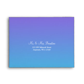 Elegant Purple Teal RSVP Return Address A2 Envelope