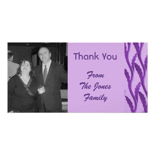 elegant purple Thank You Card