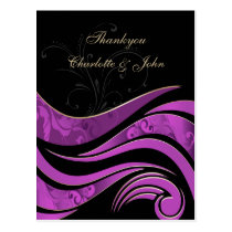 Elegant purple Thank You Cards