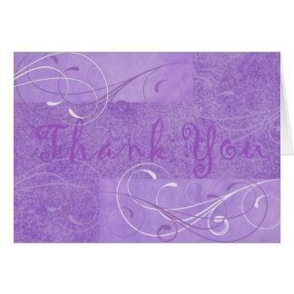 Elegant Purple Thank You Notecard