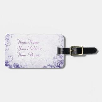 Elegant Purple Vintage Bag Tag