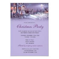Elegant purple vintage Christmas holiday party Personalized   Invites
